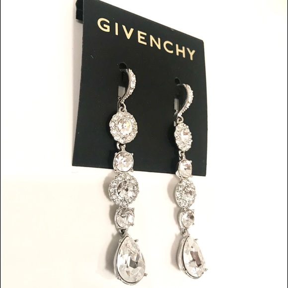 1545c82a40e85 Givenchy crystal linear drop earrings